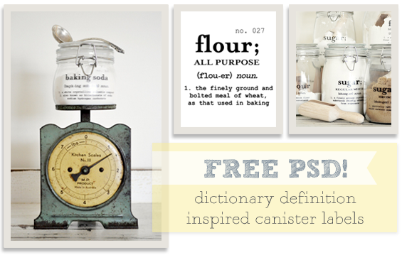 Free PSD Baking Canister Labels