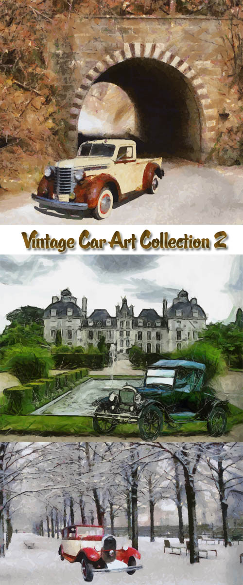 Stock: Vintage Car Art Collection