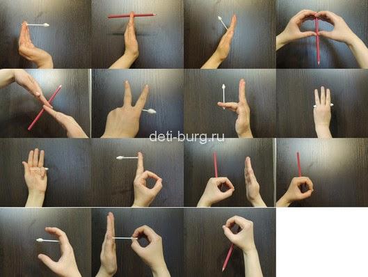 Буквы - пальчиковая гимнастика