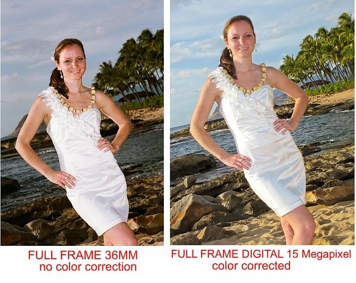 FILM vs. DIGITAL picture | Dream Weddings Hawaii 1-877-WED-IN-HAWAII