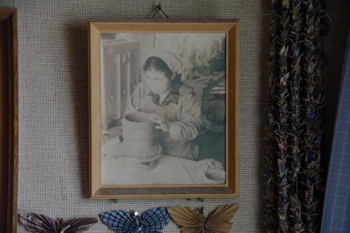 写真:松田さんの陶芸風景