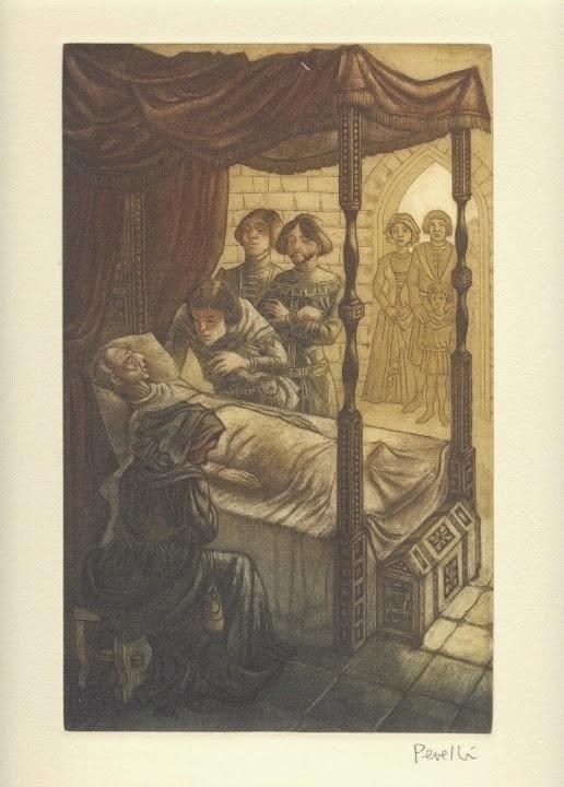 El judío Melquisedec - Grabado original de Celedonio Perellón
