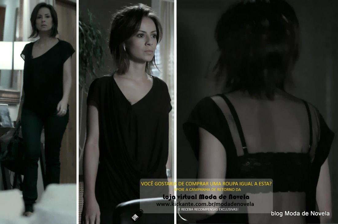 moda da novela Império, look da Maria Clara dia 21 de fevereiro de 2015