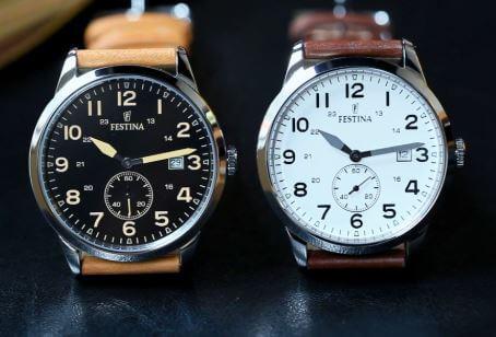 Kiểm tra đồng hồ Festina qua mặt số và mặt kính