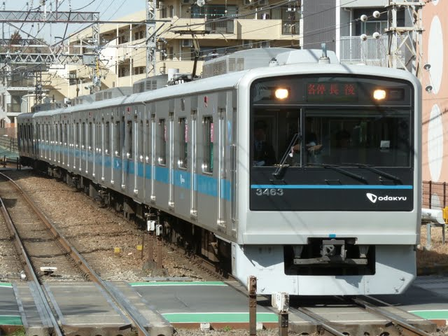 小田急電鉄 各停 長後行き 3000形(東京電力計画停電に伴う運行)