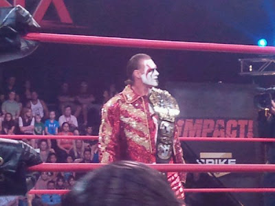 Sting with the New TNA World Title Belt