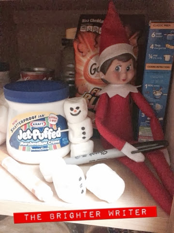 The Elf On The Shelf, a great Loophole for the Don't Touch rule!! www.thebrighterwriter.blogspot.com