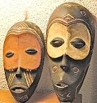 Les masques Lulua du Kasaï-Occidental (RDC). Ph. Okapi.