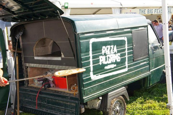 pizza pilgrims van at feastival