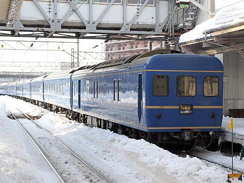 JR寝台特急「日本海」 4001レ カニ24(青森駅にて)