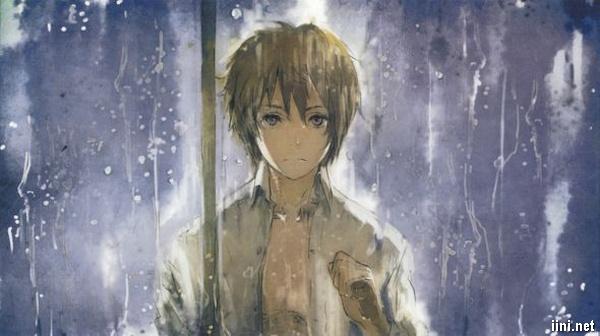ảnh chàng trai trong mưa buồn