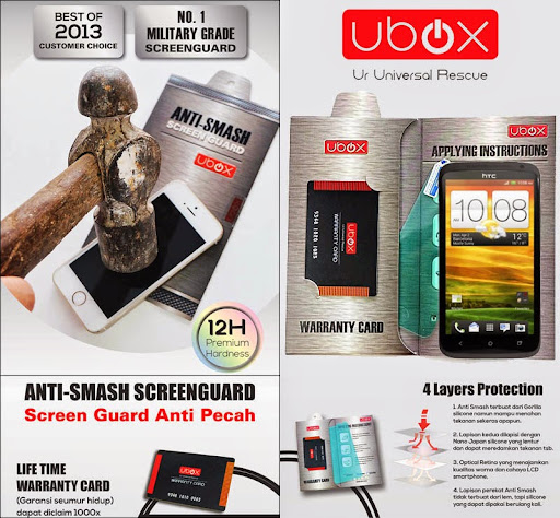 Ubox Anti-Smash 0.25mm HTC One X - X+