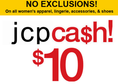 JCPcash coupon june 2011-Women's Apparel