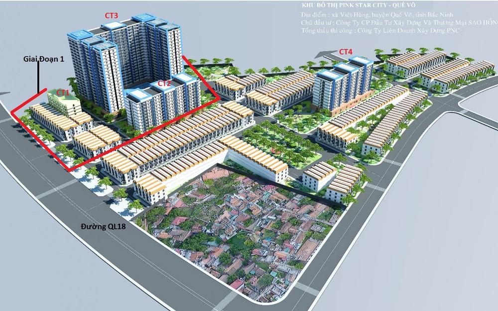 nhà ở xã hội Pink Star City Quế Võ 1000x625