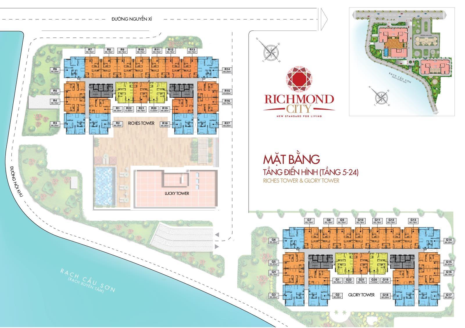 Mặt bằng tổng thể dự án richmond city