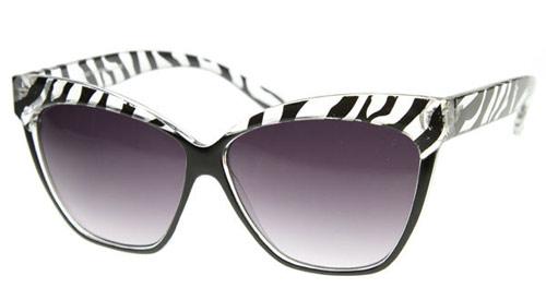 Inspiração zebra - óculos de sol