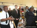 Au centre, Simon Stupmpt, chef de la coopération de l'ambassade d'Allemagne en RDC le 27/10/2014 à Kinshasa lors de l'inauguration des nouvelles salles de classe du centre régional de formation en navigation intérieur(CRFNI). Radio Okapi/Ph. John Bompengo