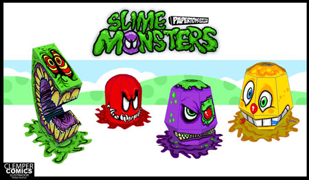 Clown Slime Monster Paper Toy