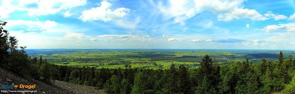 Panorama z platformy na Łysej Górze