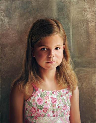 """Presley"" Oil by artist Lisa Ober."
