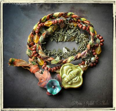 Spring in Bloom Bee Bracelet by Brass Rabbit Studio