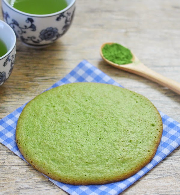 photo of a matcha cookie