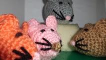 ratones de ganchillo o crochet