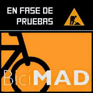 Pulsa para firmar por un biciMAD en periodo de pruebas