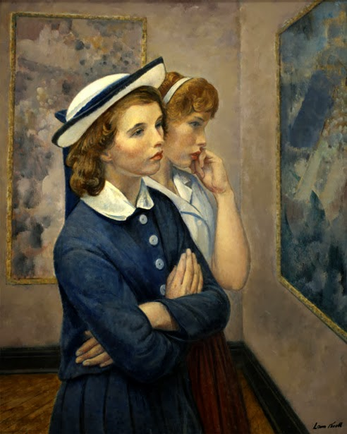 Leon Kroll - Girls at the exhibition