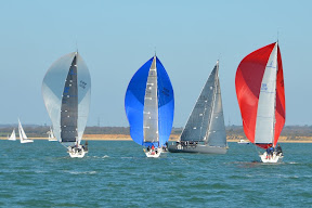 J/111 one-design sailing on Solent, England