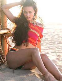 Supermodel Alicia Hall