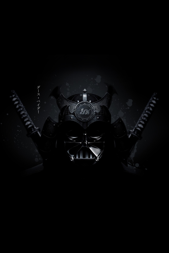 Samurai darth vader black white wallpaper black and for Darth vader black and white