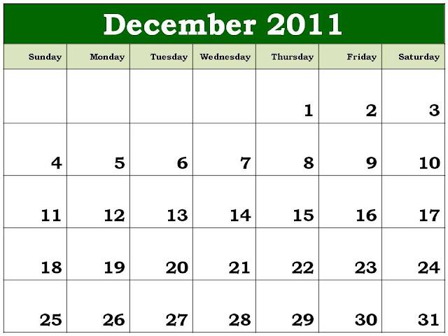 printable december 2011 calendar. Calendar Planner 2011