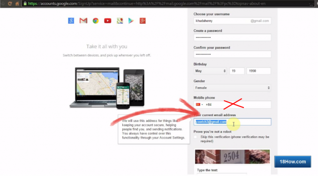 How To Register Gmail Without Mobile Phone Verification 18how Com