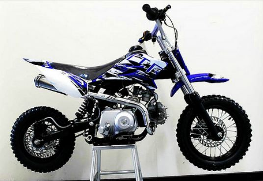 110cc TR Kids 4 Stroke Dirt Mini Bike Blue