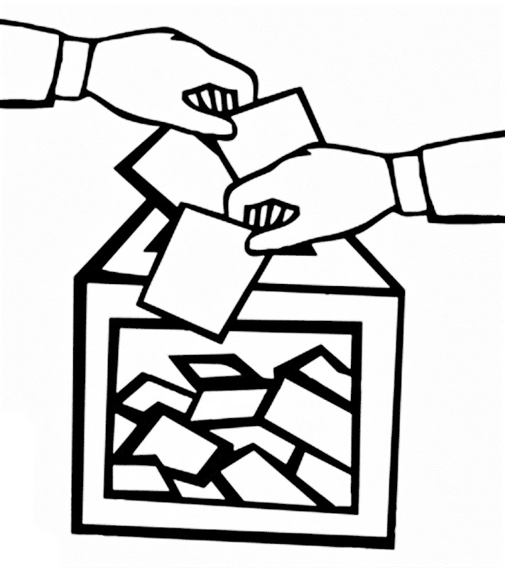 Images of election day coloring pages