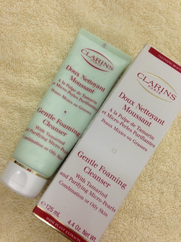 clarins foaming cleanser with cottonseed review