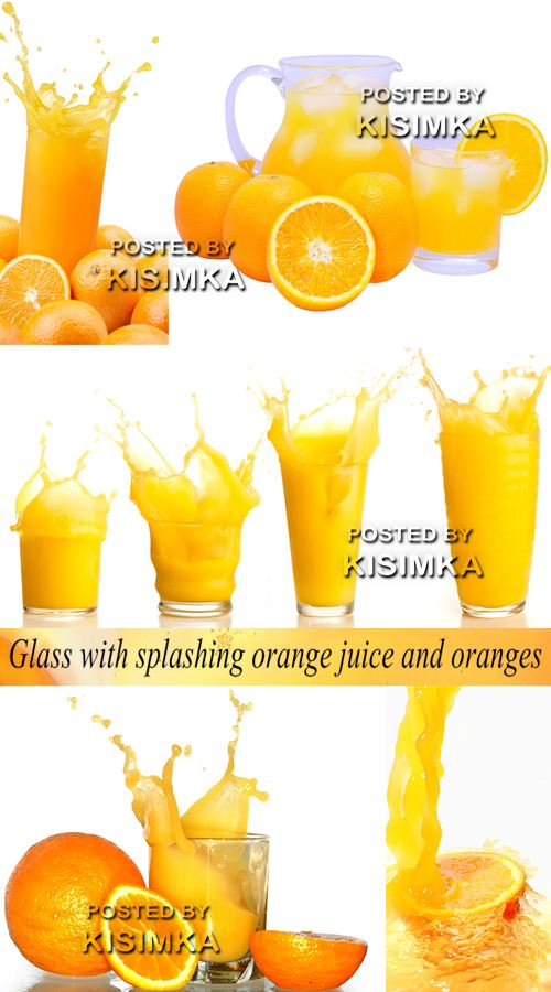 Stock Photo: Glass with splashing orange juice and oranges