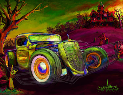 SAM AMES: 1934 Ford Rat Rod - Rat Rodders and Zombie Rockers