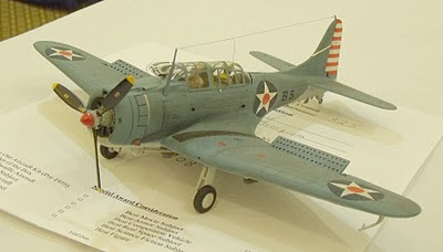 Douglas SBD Dauntless dive bomber model
