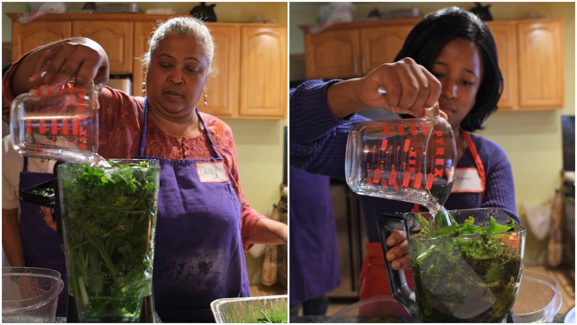 Making Green Seasoning