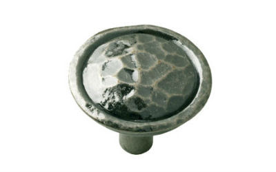 Cabinet Door Hammered Pewter Knob