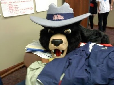 Is this the head of new Ole Miss Mascot costume?