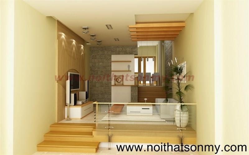 Mẫu thiết kế nội thất phòng khách 318