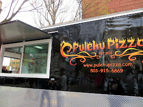 Pulehu Pizza, Portland food truck grilled pizza