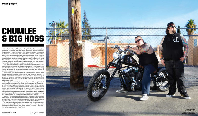 Chumlee & Big Hoss by Jana Cruder for Inked Magazine
