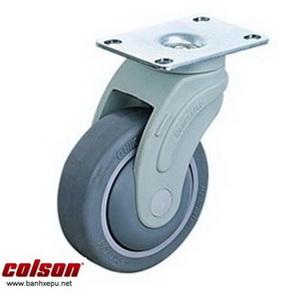 Bánh xe đẩy cao su xoay chịu lực 80kg | STO-4856-448