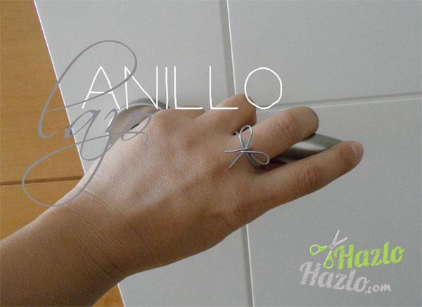 Cómo hacer un anillo lazo