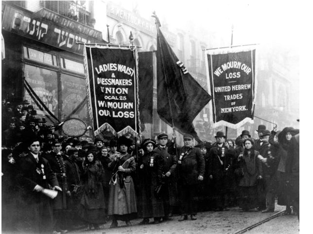 """the risks and dangers of sweatshops in 1911 The phrase """"made in bangladesh"""" is now rightly associated with dangerous,   made overseas, primarily in asian factories, often in sweatshop conditions  in a  scene reminiscent of the tragic 1911 triangle shirtwaist factory fire in  the  tazreen factory's previous audit found only """"medium-risk violations."""