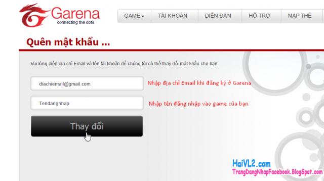 lấy lại mật khẩu garena, lấy lại mật khẩu fifa online 3